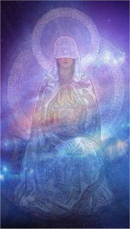 Divine Mother in starry galaxy
